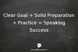 Speaking Success Formula