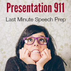Last minute public speaking coaching
