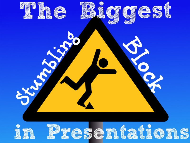 Transitions are the big stumbling blocks in presentations