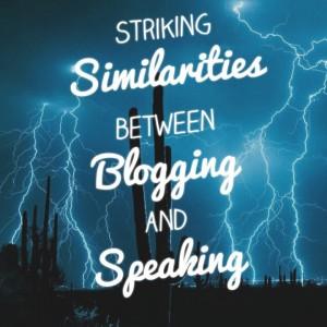 Public speaking and blogging similarities