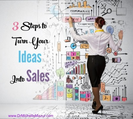 3 Steps to turning your ideas into sales